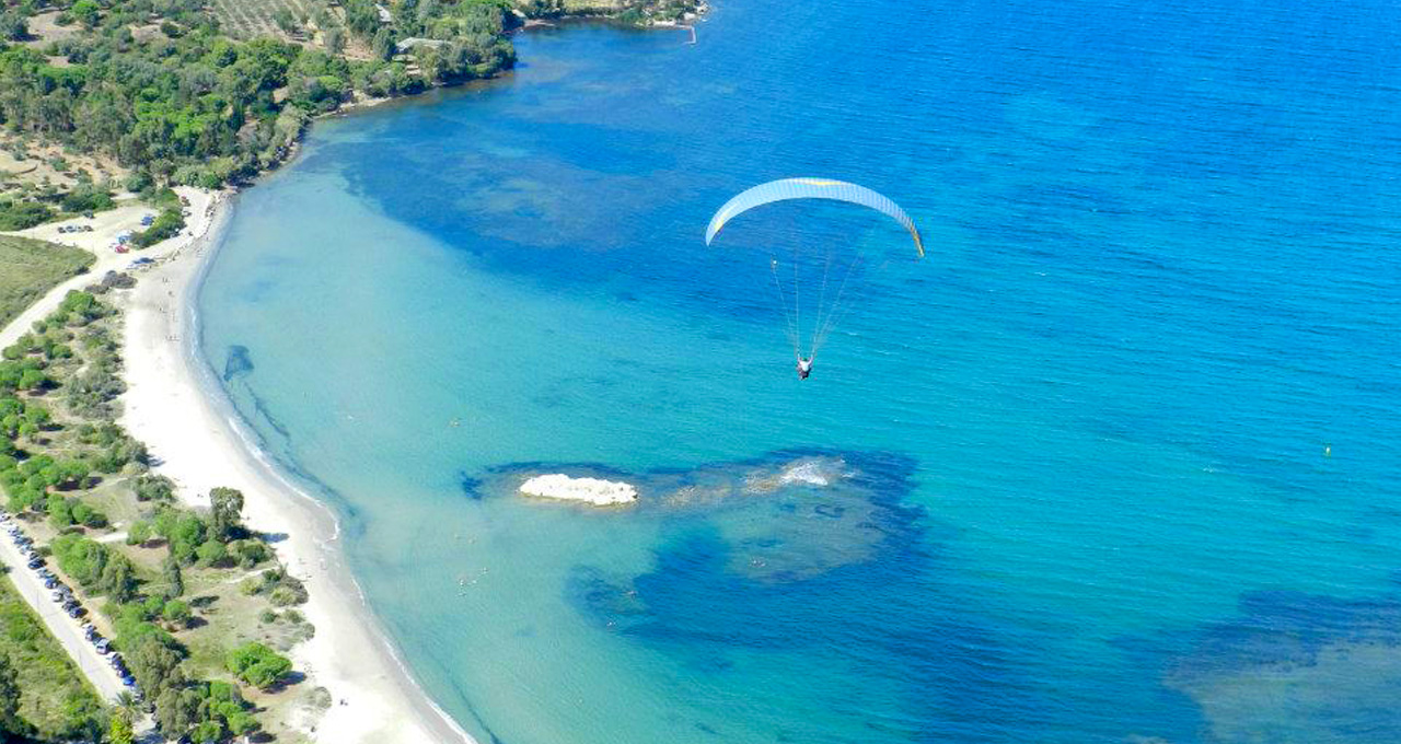Paragliding on Corsica